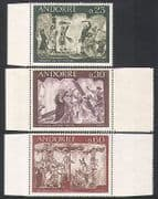 Andorra 1968 Bible  /  Frescoes  /  Art  /  Painting  /  Religion 3v set (n35751)