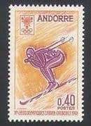 Andorra 1968 Winter Olympic Games  /  Skiing  /  Sports 1v (n34124)