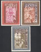Andorra 1969 Art  /  Carving  /  Church  /  Dragons  /  Demons  /  Angels  /  Birds 3v set (n34128)