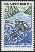 Andorra 1969 Canoe/ Kayak/ Boats/ Sports/ Canoeing/ Kayaking 1v (n34123)