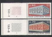 Andorra 1969 Europa  /  CEPT  /  Colonnade  /  Animation 2v set (n35764)