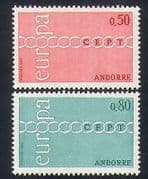 Andorra 1971 Europa  /  CEPT  /  Chain  /  Animation 2v set (n35754)