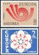 Andorra 1973 Europa/ CEPT/ Communication/ Posthorn/ Arrows/ Animation 2v set (ex1061)