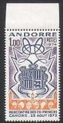 Andorra 1974 Coat-of Arms  /  Heraldry  /  Princes  /  Royalty 1v (n35748)