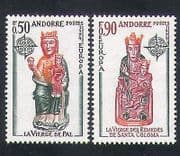 Andorra 1974 Europa  /  Church Sculptures  /  Statues  /  Art  /  Craft  /  Animation 2v set  n35760