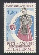 Andorra 1976 IWY  /  International Women's Year  /  Bird Emblem  /  Animation 1v (n35746)