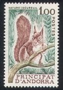 Andorra 1978 Nature Protection/ Eurasian Red Squirrel/ Animals/ Conservation 1v (n39121)