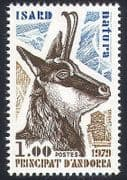 Andorra 1979 Animals  /  Chamois Deer  /  Nature  /  Wildlife 1v (n30717)