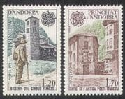 Andorra 1979 Europa  /  Postman  /  Church  /  Post Office  /  Buildings  /  Architecture 2v  n39089