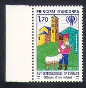 Andorra 1979 IYC  /  Children  /  Sheep  /  Church  /  Building  /  Welfare  /  Animation 1v (n35757)