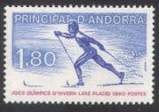 Andorra 1980 Sports  /  Olympic Games  /  Olympics  /  Skiing  /  Animation 1v (n35743)