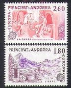 Andorra 1983 Europa  /  Sheep  /  Farming  /  Cheese  /  Forge  /  Blacksmith 2v set (n36475)