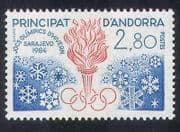 Andorra 1984 Olympic Games  /  Sports  /  Olympics  /  Torch  /  Flames  /  Snowflakes 1v (n39239)