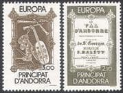 Andorra 1985 Europa/ Opera/ Music/ Songs/ Singing/ Musical Instruments/ Lyre/ Pipes 2v set (n41713)