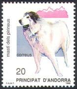 Andorra 1988 Pyrenean Mountain Dog/ Dogs/ Pets/ Animals/ Nature Protection 1v (n18702)