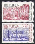 Andorra 1990 Europa  /  Post Office Buildings  /  Architecture  /  Animation 2v set (n36467)