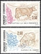 Andorra 1991 Nature Protection/ Cattle/ Sheep/ Animals/ Conservation 2v set (n43040)