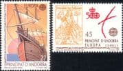 Andorra 1992 Europa/ Columbus/ America/ Boats/ Sailing/ Transport/ Explorers/ People 2v set (b6225q)