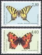 Andorra 1994 Butterflies/ Insects/ Nature/ Conservation/ Butterfly 2v set (b8905)