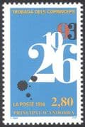 Andorra 1994 Numerals/ Date/ Co-Princes Meeting/ Politics/ Government 1v (n27658)