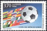 Andorra 1994 Sports/ Football/ World Cup/ WC/ Soccer/ Games/ Flags/ Animation 1v (n44096)