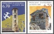 Andorra 1996 Churches/ Chapel/ Buildings/ Architecture/ Religion 2v set (n43039)