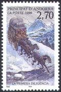 Andorra 1999 Postal Transport/ Mail Coach/ Horses/ Animals/ Nature 1v (n42739)