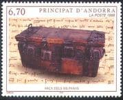 Andorra 1999 Wooden Chest/ History/ Heritage/ Craft/ Writing/ Books 1v (n41845)