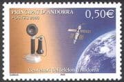 Andorra 2003 Telephone/ Satellite/ Communications/ Telecomms/ Space/ Science/ Technology 1v (n42670)