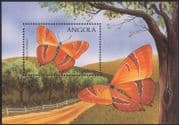 Angola 1998 Butterflies/ Insects/ Nature/ Conservation/ Butterfly 1v m/s (n44779)
