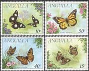 Anguilla 1971 Butterflies/ Insects/ Nature/ Butterfly/ Conservation 4v set (b6140)