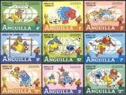 Anguilla 1982 Disney/ World Cup Football/ Soccer/ WC/ Sports/ cartoons/ Animation 9v set (n42574)
