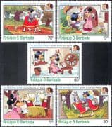 Antigua 1985 Disney/ Mickey/Horse/ Brothers Grimm/ Folk Tales/ Fairy/ Books/ Writers 5v set (n42576)