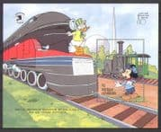 Antigua 1989 Disney/ Mickey/ Trains/ Steam/ Rail/ Railways/ Animation 1v m/s (n26680)