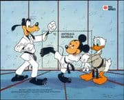 Antigua 1991 Disney/ Mickey/ Donald/ Goofy/ Karate/ Sports/ Cartoons/ StampEx 1v m/s (n26681)