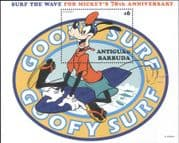 Antigua 1999 Disney/ Goofy/ Mickey 70th/ Surfing/ Sports/ Cartoons/ Animation 1v m/s (b1605y)