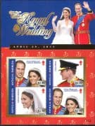 Antigua 2011 Prince William/ Kate/ Royal Wedding/ Royalty/ People 4v m/s (n41096)