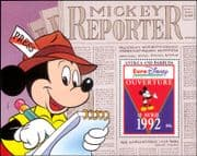 Antigua & Barbuda 1993 Euro Disney/ Cartoons/ Animation/ Mickey/ Newspaper 1v m/s (b1480p)