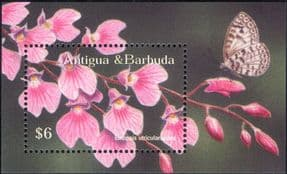 Antigua & Barbuda 2002  Orchid/ Flowers/ Nature/ Plants/ Orchids  1v m/s  (b4525b)