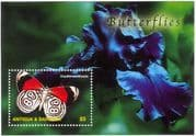 Antigua & Barbuda 2003 Butterflies/ Insects/ Nature/ Butterfly/ Conservation/ Orchid 1v m/s (n10530)