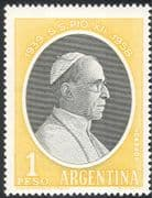 Argentina 1958 Pope Pious XII/ Popes/ People/ Religion 1v (n42927)
