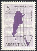 Argentina 1960 Census/ Map/ Cattle/ Antarctic/ People/ Animation 1v (n26655)