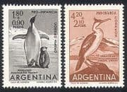 Argentina 1961 Penguins  /  Birds  /  Antarctic 2v (n24211)