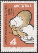 Argentina 1963 Food/ Freedom From Hunger/ FAO/ FFH/ Child/ Milk/ Health/ Welfare 1v (n44501)