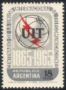 Argentina 1965 ITU-UIT 100th Anniversary/ Radio/ Telecomms/ Communications 1v (n26712)