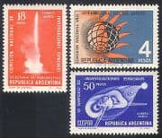 Argentina 1965 Quiet Sun  /  Rocket  /  Science  /  Solar 3v set (n27391)