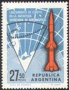 "Argentina 1966 Antarctic/ Map/ ""Centaur"" Rocket/ Space/ Science 1v (n24398)"