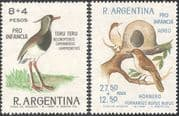 Argentina 1966 Lapwing/ Hornero/ Birds/ Nature/ Wildlife/ Welfare Fund 2v set (n31664)
