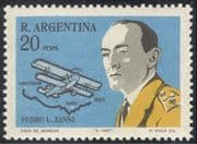 Argentina 1967 Aviation/ Aircraft/ Plane/ Pilot/ Map/ Transport /People 1v (n24220)