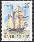Argentina 1967 Ship  /  Transport  /  Nautical  /  Navy  /  Boats  /  Sail  /  Sailing 1v (n27429)
